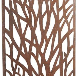 1.8m tall 'Tree' Core-ten Garden Screen