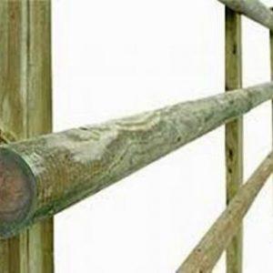 Half-Round Post & Rails