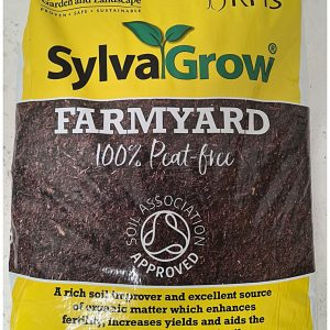 """50 Litre sack of Melcourt """"Sylvagrow Farmyard"""" manure like soil improver and mulch RHS endorsed and Soil Association Approved"""