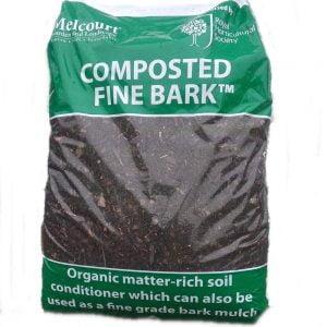 50 litre bag of RHS endorsed Melcourt composted fine bark – ideal for improving your soil