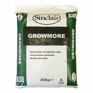 25kg Sack of Sinclair Growmore Fertiliser