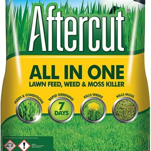 16kg sack of Westland Aftercut Lawn Feed, Weed and Moss Killer – All in one