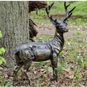 Stunning Standing Stag, Buck, Ornament cast from Aluminium